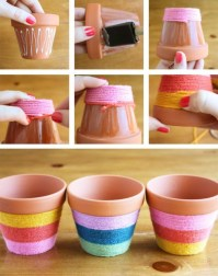Flower pot decoration ideas that you can try in your home 26