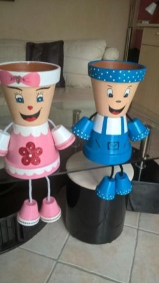 Flower pot decoration ideas that you can try in your home 37