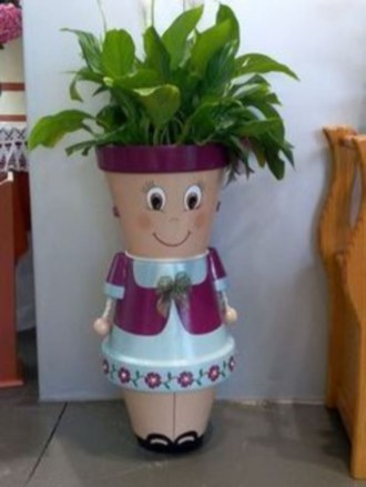 Flower pot decoration ideas that you can try in your home 43