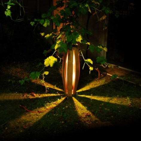 Front yard exterior design with beautiful garden lights 06