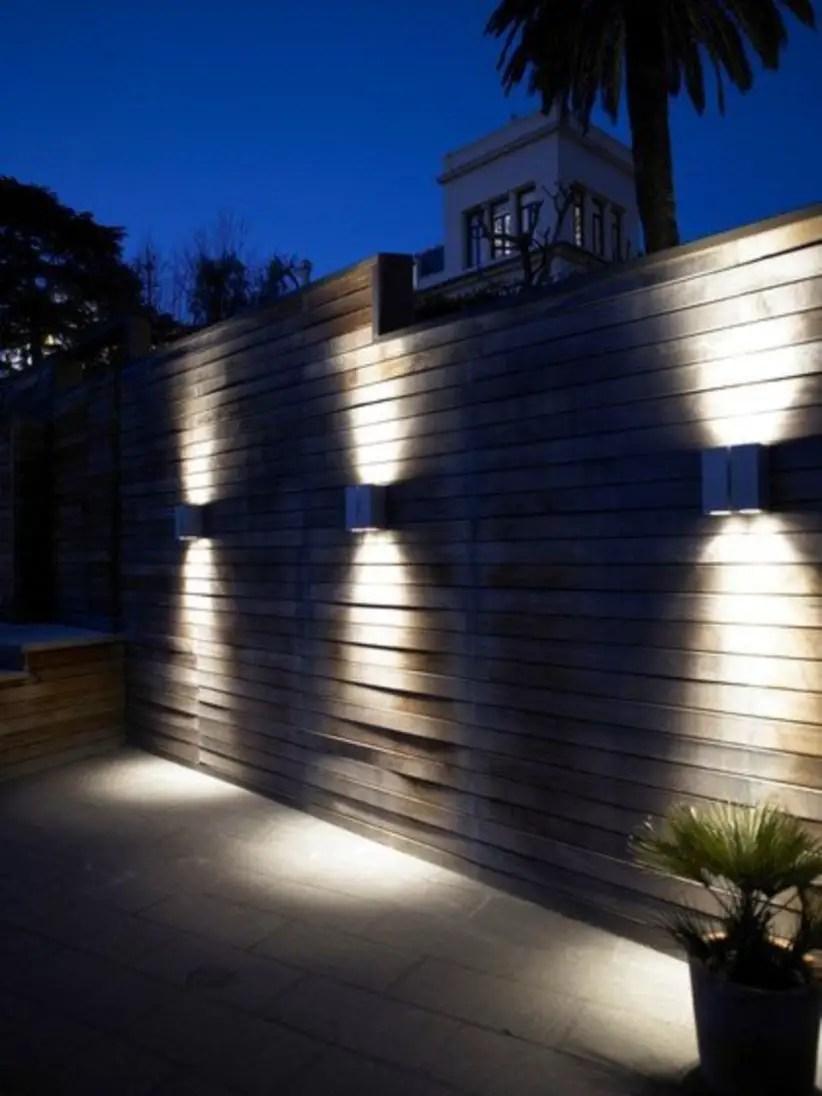 Front yard exterior design with beautiful garden lights 10