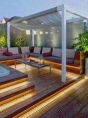 Front yard exterior design with beautiful garden lights 15