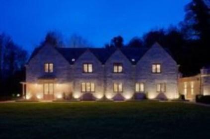 Front yard exterior design with beautiful garden lights 31