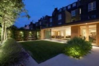 Front yard exterior design with beautiful garden lights 35