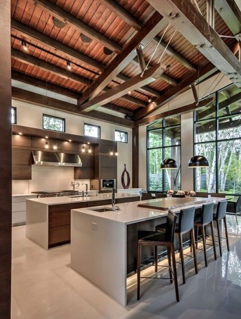 Modern kitchen design ideas you can try in your dream home 24