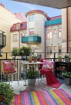 The best mini bar design ideas in balcony apartment 28