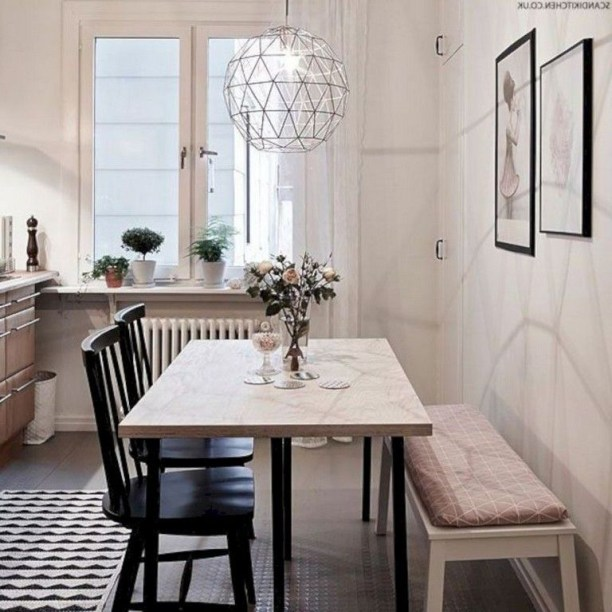 The best small dining room design ideas that you can try in your homel 43