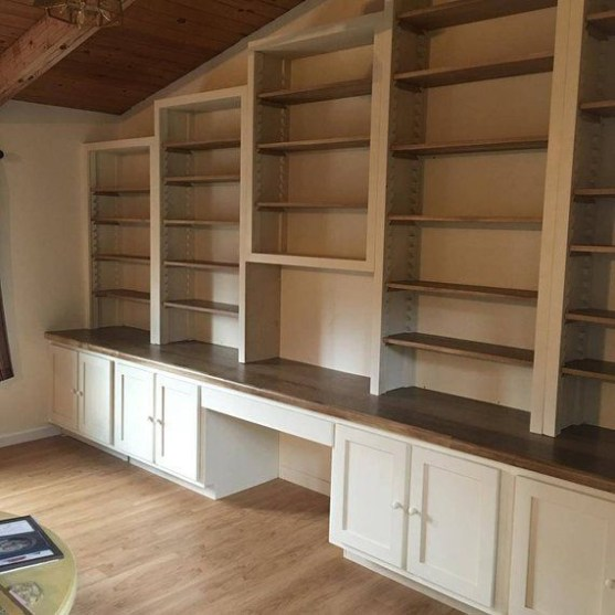 Wooden cabinet design ideas for book diy that you can make in your home 13