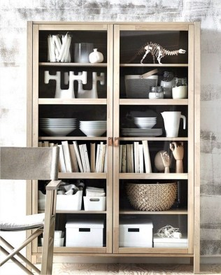Wooden cabinet design ideas for book diy that you can make in your home 16
