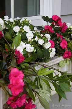 Exterior decoration ideas with flower in window 03