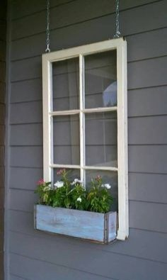 Exterior decoration ideas with flower in window 07