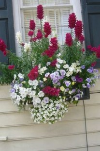 Exterior decoration ideas with flower in window 31