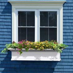 Exterior decoration ideas with flower in window 41