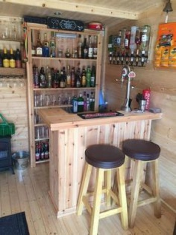 Inspiring pallet mini bar design ideas 14