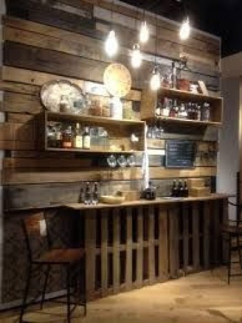 Inspiring pallet mini bar design ideas 17