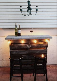 Inspiring pallet mini bar design ideas 18