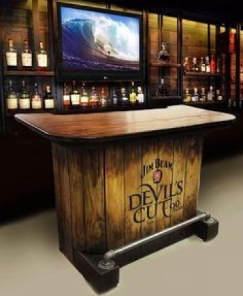 Inspiring pallet mini bar design ideas 19