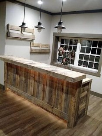 Inspiring pallet mini bar design ideas 23