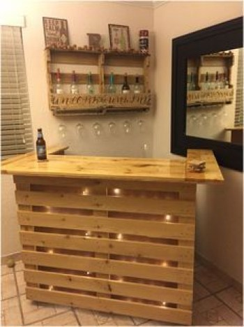 Inspiring pallet mini bar design ideas 31
