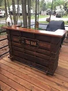 Inspiring pallet mini bar design ideas 45