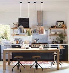 Wood kitchenset design ideas that you can try 39