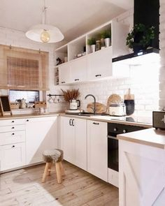 Wood kitchenset design ideas that you can try 43