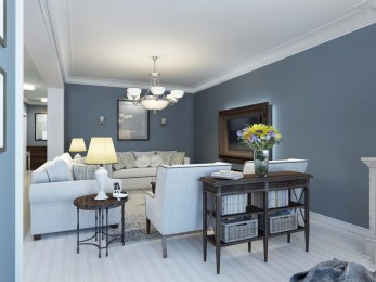 Living room gray wall color design ideas 04