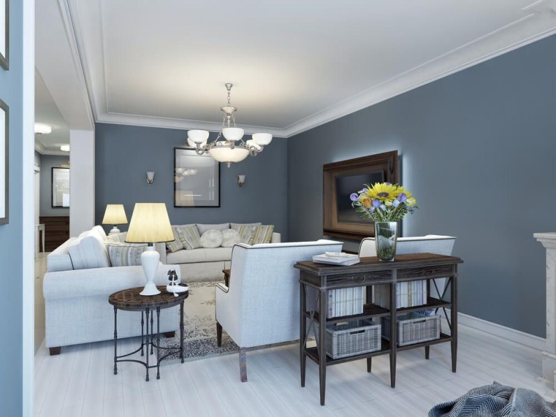 Living room gray wall color design ideas 04