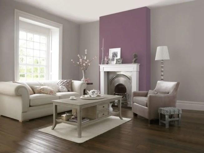Living room gray wall color design ideas 13