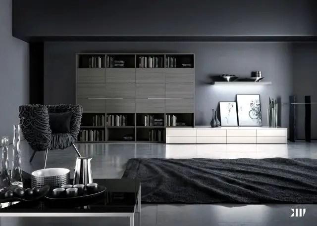 Living room gray wall color design ideas 23