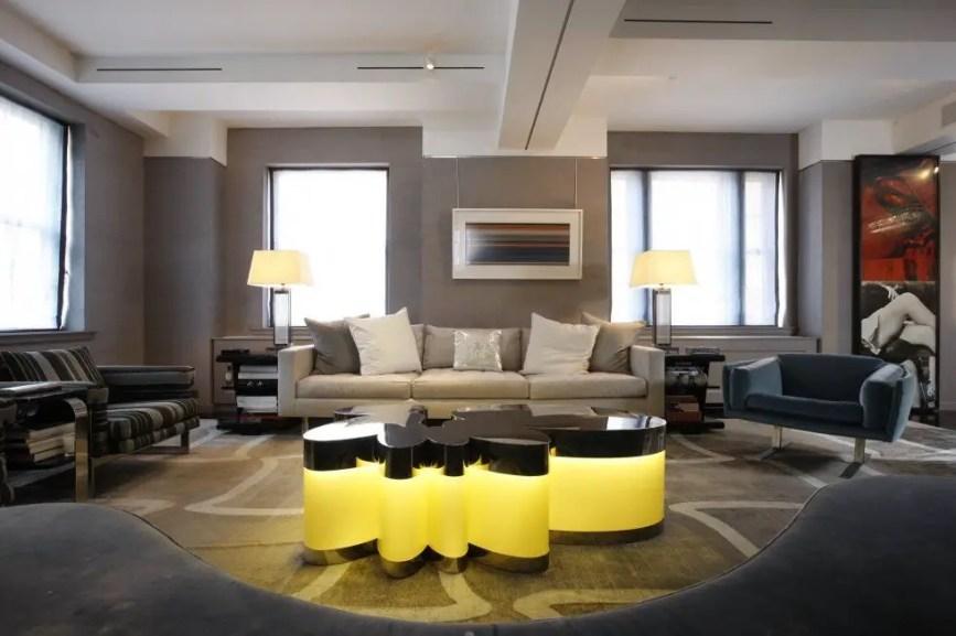 Living room gray wall color design ideas 24