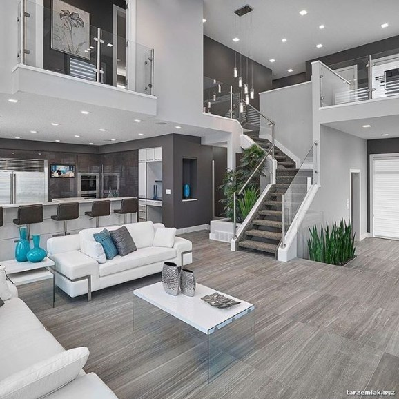 Living room gray wall color design ideas 28