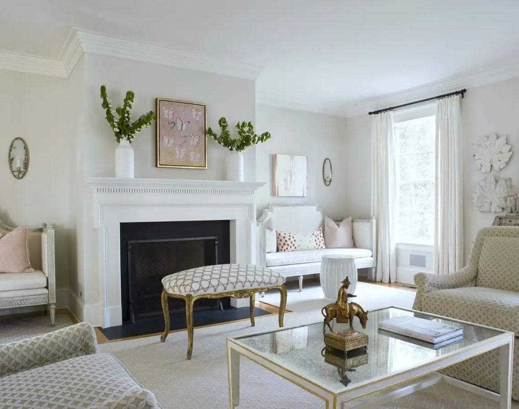 Living room gray wall color design ideas 38