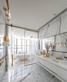 Minimalist bathroom design ideas 38