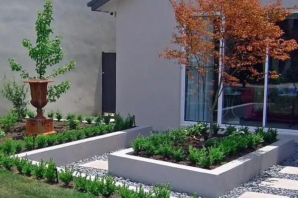 Modern&minimalist frontyard desgin ideas 06