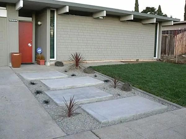 Modern&minimalist frontyard desgin ideas 36