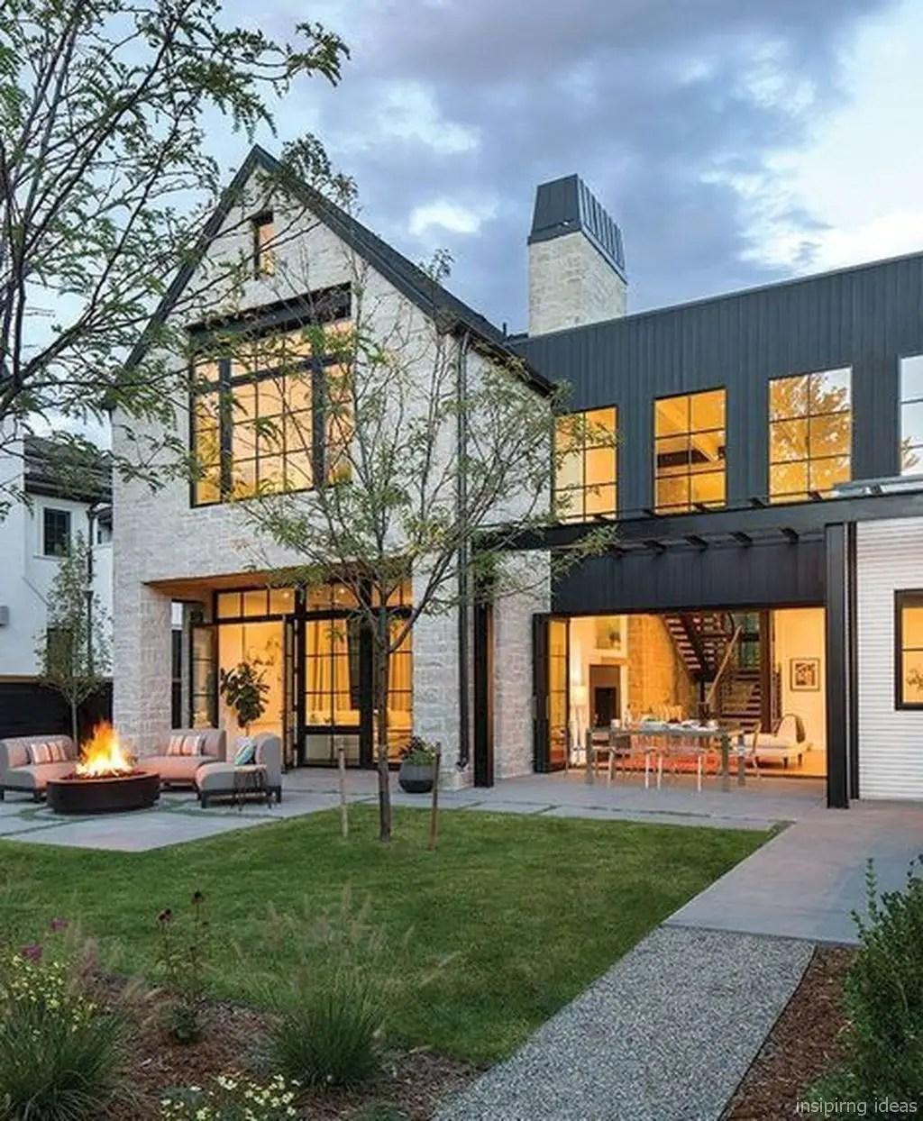 Simple exterior design ideas 22