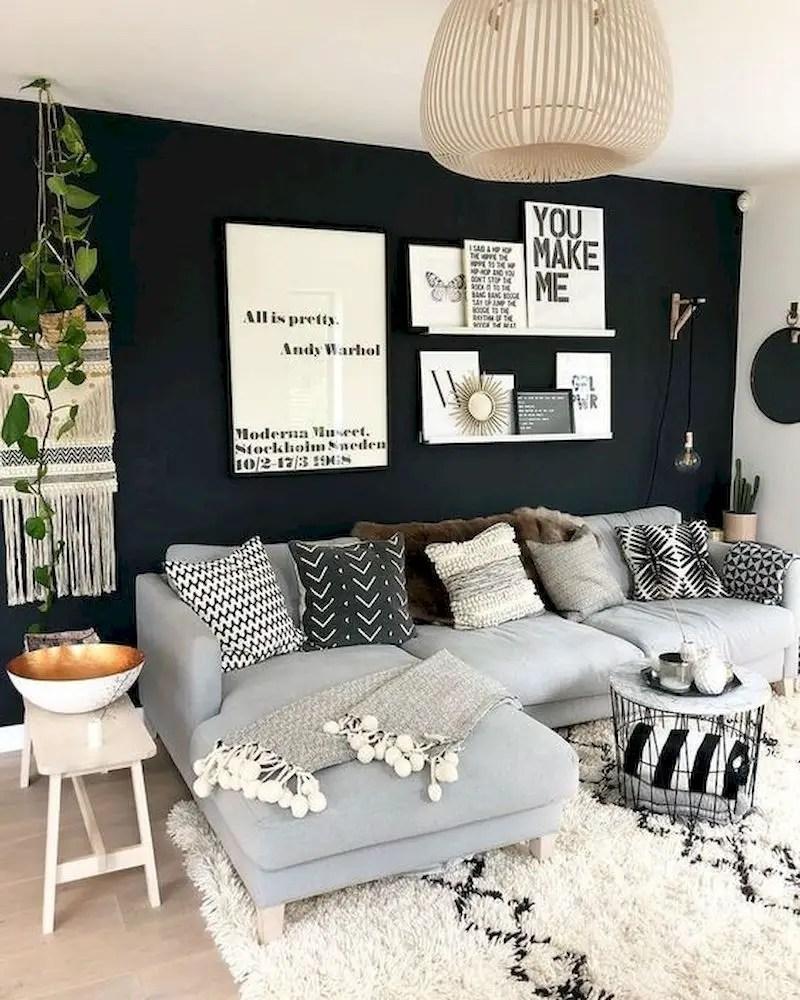 Inspiring living room wall design ideas 06