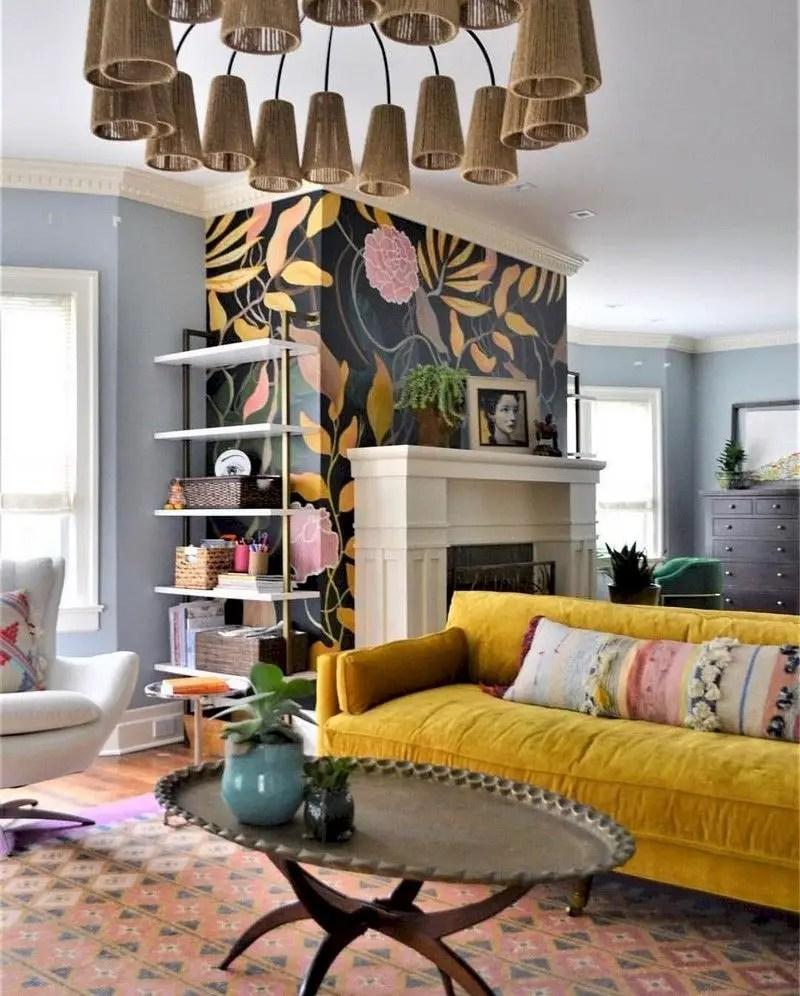 Inspiring living room wall design ideas 25