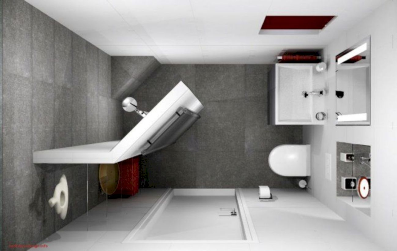 Inspiring small bathroom design ideas in apartment 39