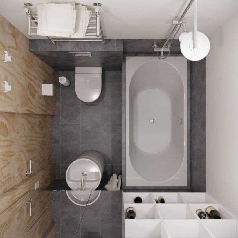 Inspiring small bathroom design ideas in apartment 44
