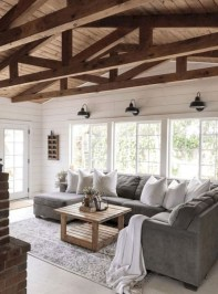 Livingroom design ideas to make look confortable for guest 37