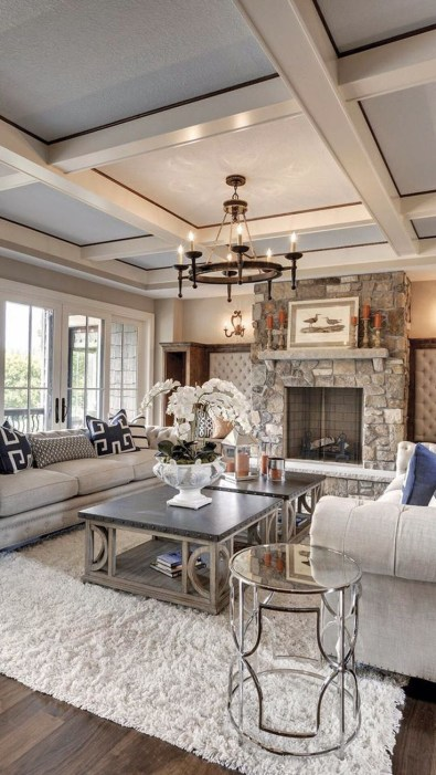 Livingroom design ideas to make look confortable for guest 44