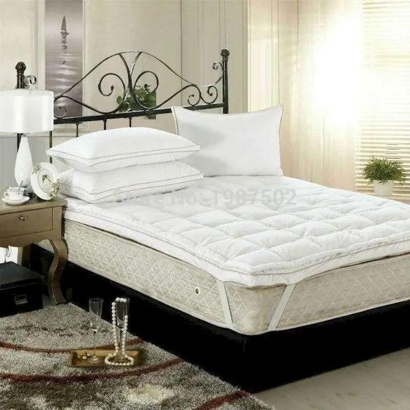 Luxury bedroom design ideas with goose feather 42