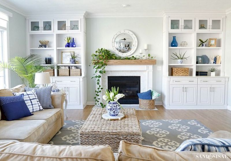 Spring living room design ideas that you can copy right now 40