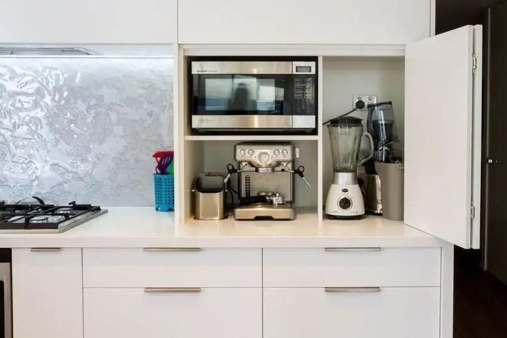 The best kitchen appliance storage rack design ideas 41