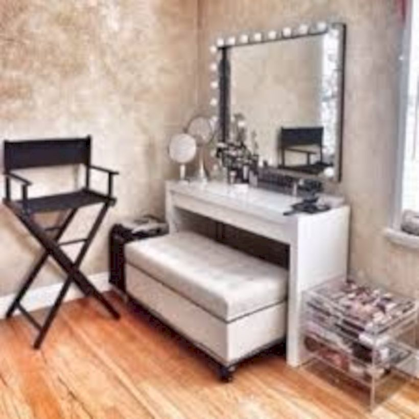 The best makeup table design ideas that you must copy right now 08