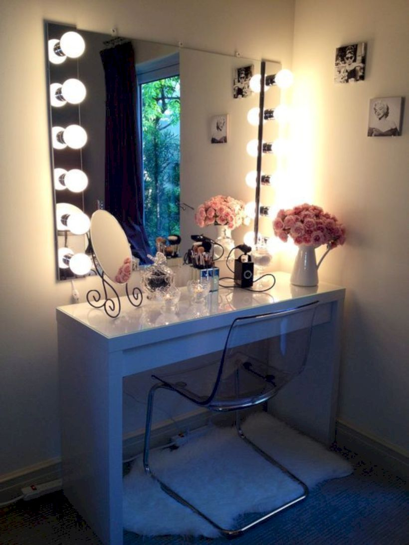 The best makeup table design ideas that you must copy right now 40