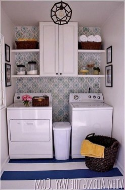 Trend small laundry room design ideas that you can try 15