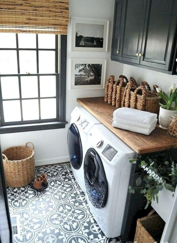 Trend small laundry room design ideas that you can try 26